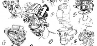 Engine Head Character Sketches
