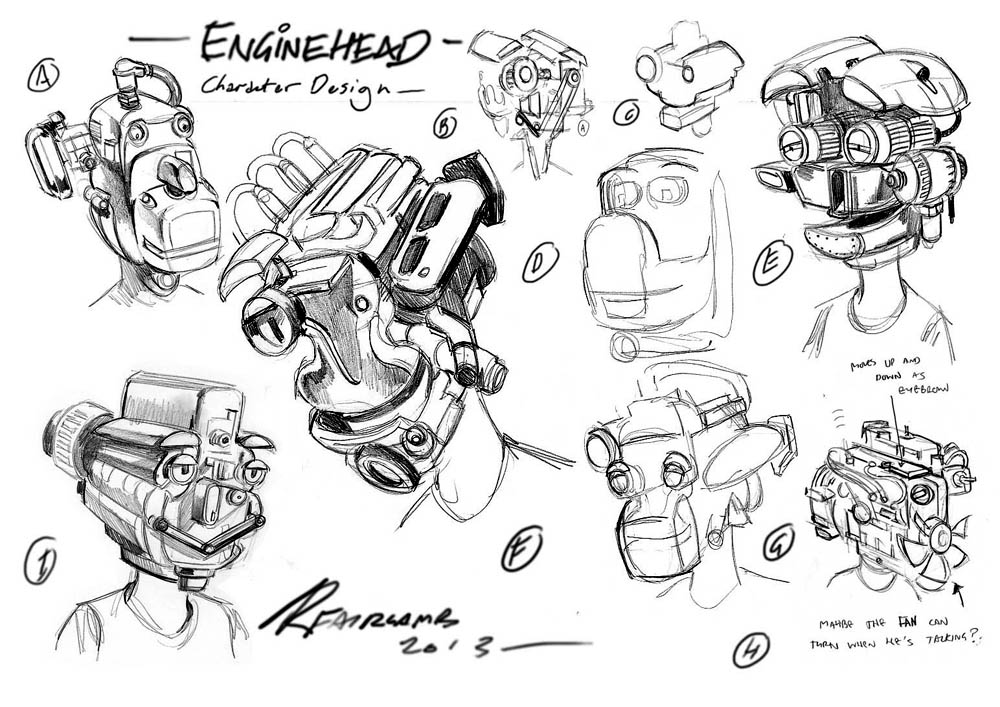 Character Design Engine : Storyboards concept art rick fairlamb portfolio and