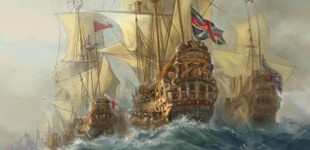 The English Fleet heading to the Dutch coast
