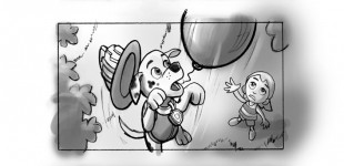 Paw Patrol - Pups save Marshall! Storyboards (1)