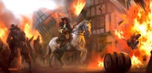 KIng Charles II Observing the Fire